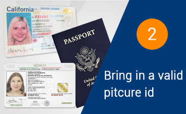 Current up to date or issued within 5 years government-issued photo ID, including a driver's license, military ID, passport, and matricula consular to pawn or sell.